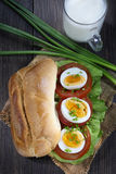 Sandwich with egg Royalty Free Stock Images