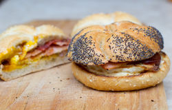 Sandwich with egg and bacon Royalty Free Stock Photo