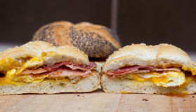 Sandwich with egg and bacon Royalty Free Stock Image