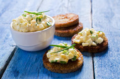 Sandwich with egg salad Royalty Free Stock Images