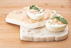 Sandwich with egg and tuna sauce Stock Photos