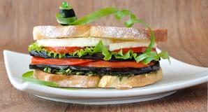 Sandwich with eggplant Stock Photos