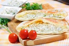 Sandwich with eggplant paste Stock Photo