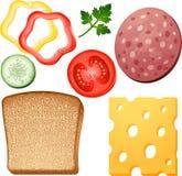 Sandwich elements Royalty Free Stock Photo