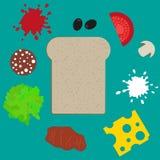 Sandwich elements Stock Image