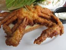 Sandwich en gros plan à crabe de Doux-SHELL Photos stock