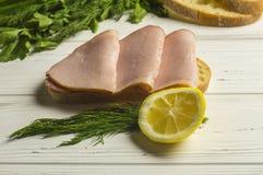 Sandwich en Kruiden Royalty-vrije Stock Foto