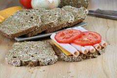 Sandwich et ingrédients à Turquie Photographie stock libre de droits