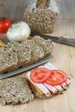 Sandwich et ingrédients à Turquie Images stock