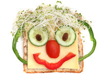 Sandwich Face Royalty Free Stock Photography