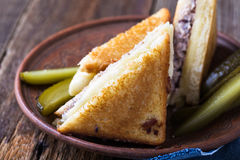 Sandwich fait maison à fonte de thon Photos stock