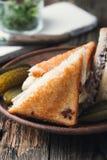 Sandwich fait maison à fonte de thon Image stock