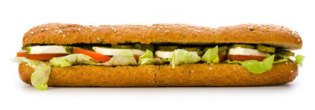 Sandwich with feta cheese Stock Image