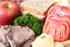 Sandwich fixings Stock Photo