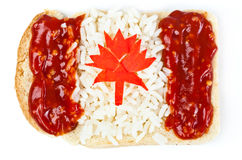 Sandwich with a flag of the Canada Royalty Free Stock Image