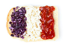 Sandwich with a flag of the France royalty free stock photo