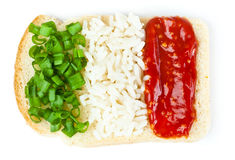 Sandwich with a flag of the Italy. Isolated on a white background Stock Photo