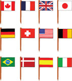 Sandwich Flags Stock Images