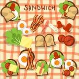 sandwich flat design vector illustration