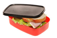 Sandwich in the food box Royalty Free Stock Photos