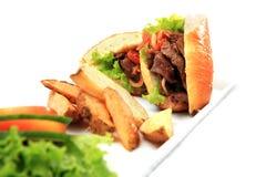 Sandwich food isolated Stock Photo