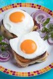 Sandwich français à Madame de croque photos stock