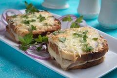 Sandwich français à Monsieur de croque images stock