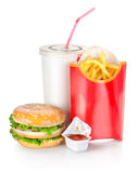 Sandwich with french fries Royalty Free Stock Image
