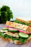 Sandwich with fresh vegetables and chicken Stock Images
