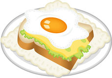 Sandwich from fried egg Royalty Free Stock Image