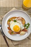 Sandwich with fried eggs Royalty Free Stock Image