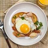 Sandwich with fried eggs Royalty Free Stock Photography