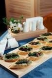 Sandwich with fried mushrooms. Advertising shooting menu Royalty Free Stock Photos