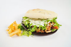 Sandwich with fries Stock Photos