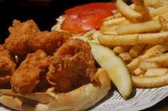 Sandwich frit à crevette Images libres de droits