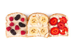 Sandwich with fruits and berries Royalty Free Stock Image