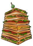 Sandwich géant illustration stock
