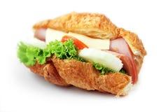 Sandwich getrennt auf Weiß lizenzfreie stockfotografie