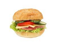 Sandwich getrennt auf Weiß Lizenzfreie Stockfotos