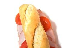 Sandwich getrennt auf Weiß lizenzfreies stockfoto