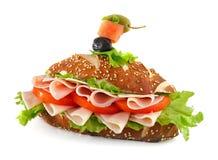 Sandwich getrennt auf weißem Hintergrund stockfoto