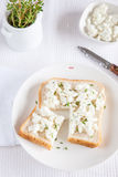 Sandwich with goatcheese Royalty Free Stock Photography