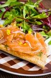 Sandwich with gravlax salmon Royalty Free Stock Photography