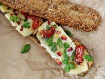 Sandwich grillé à aubergine Photographie stock