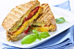 Sandwich grillé à fromage photo stock