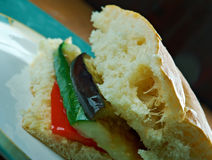 Sandwich grillé à Muffuletta de ratatouille Image stock
