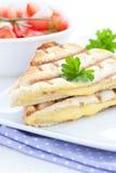 Sandwich grillé avec du fromage Images libres de droits