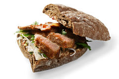 Sandwich with grilled beaf Stock Photo