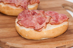 Sandwich with grilled ham in focus Stock Photos