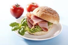 Sandwich with ham Stock Photo